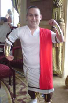 Steve_Redford_The_MiniMen_Roman_Toga_High_Profile_Wedding_Stoke_Poges
