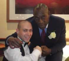 Steve_Redford_the_MiniMen_on_a_gig_with_Frank_Bruno