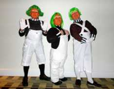 Steve_Redford_Barry_Stoner_and_Kevin_Oleary_of_the_MiniMen_as_oompa_loompas_Hilton_Manchester